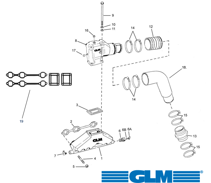 Motordelar för Volvo Penta bensinmotorer, Marineparts Sverige