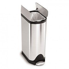 Simplehuman Kitchen Trash Can Www.kitchen.com 30 Litre Butterfly Pedal Bin Fingerprint Proof Brushed Stainless Steel