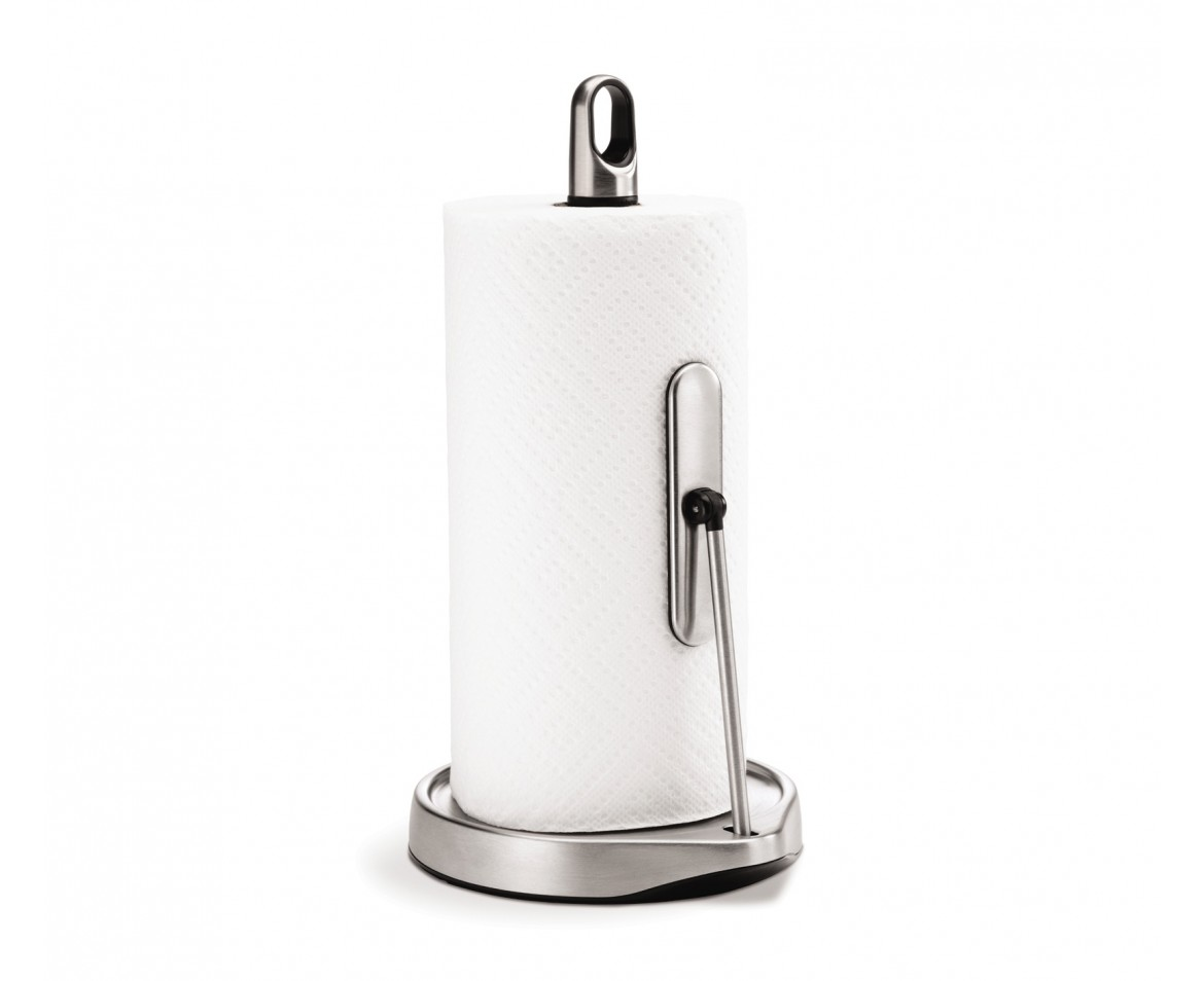 kitchen towel hanger new appliances simplehuman tall tension arm roll holder stainless steel