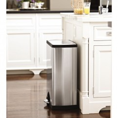 Simplehuman Kitchen Trash Can Cheap Appliances 50 Litre Rectangular Pedal Bin Fingerprint Proof Stainless Steel