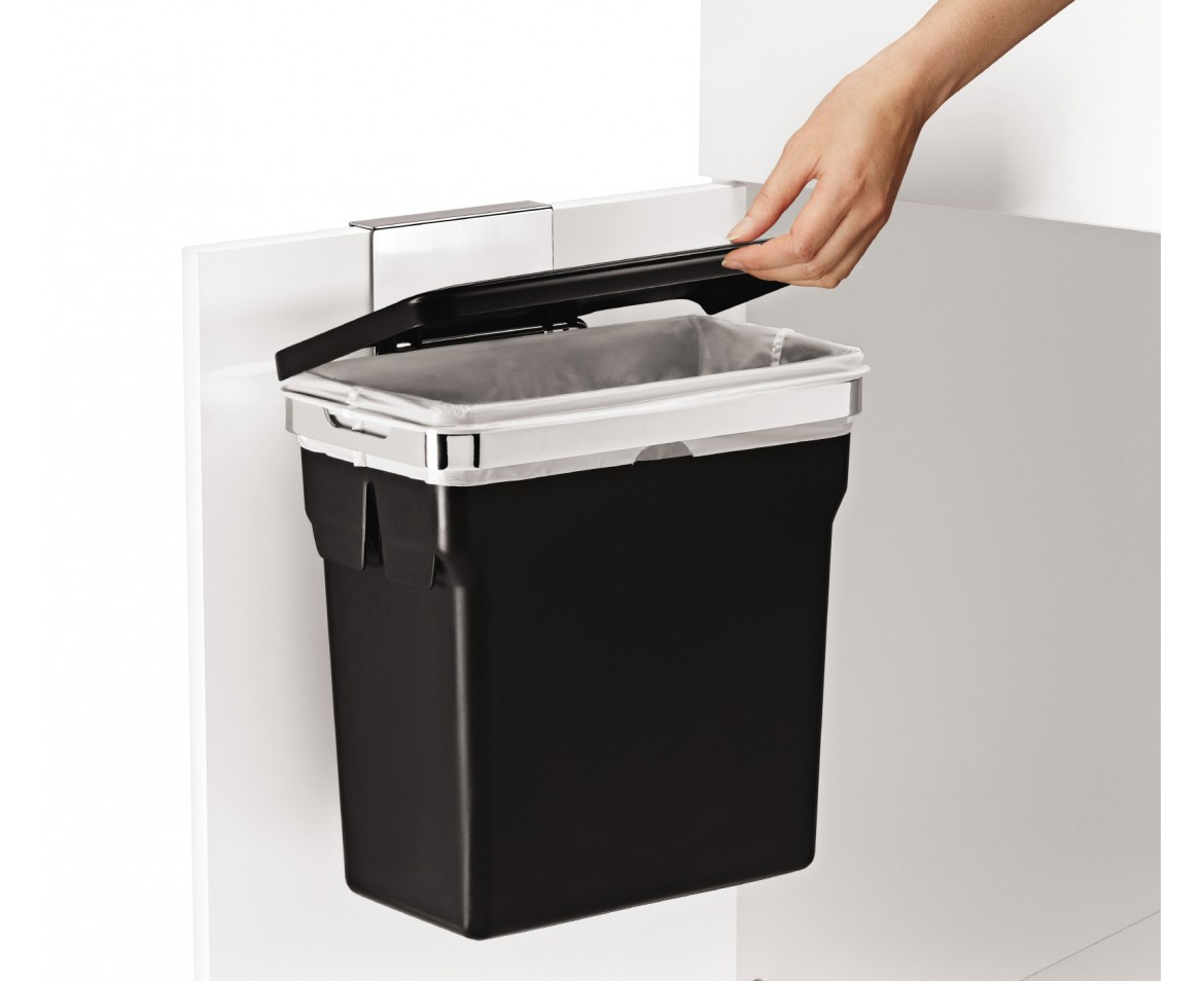 door mounted kitchen garbage can with lid small remodel simplehuman in cabinet trash