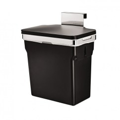 Door Mounted Kitchen Garbage Can With Lid Mason Jar Lights Simplehuman In Cabinet Trash