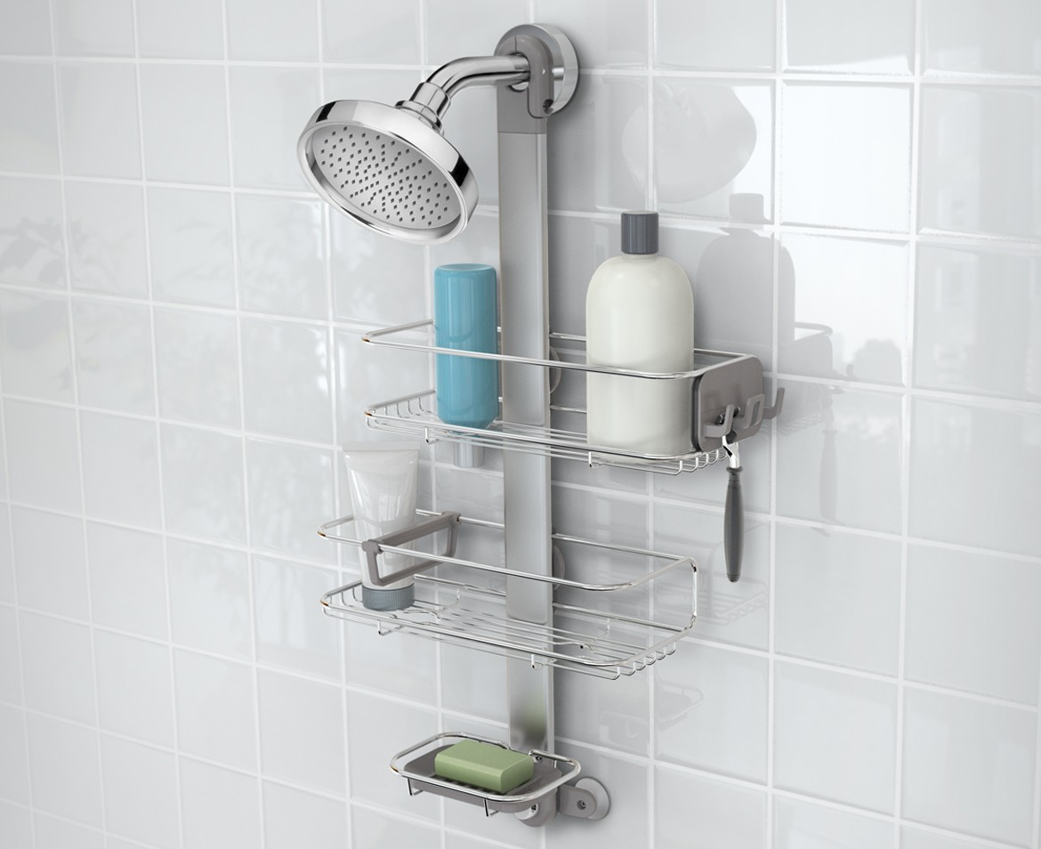 Bathroom Shower Caddy Adjustable Shower Caddy Stainless Steel Anodised Aluminium