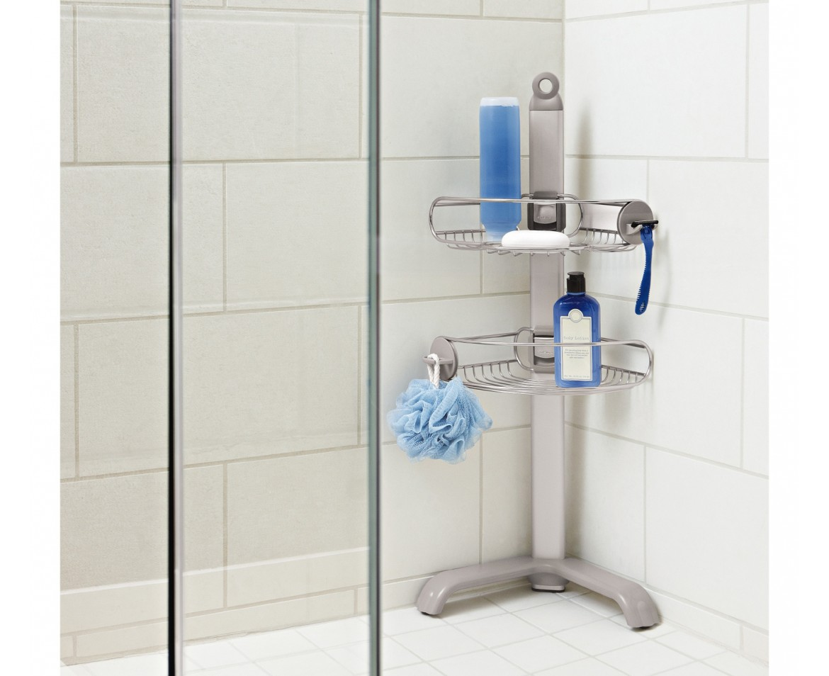 Bathroom Shower Caddy Corner Shower Caddy Stainless Steel Anodised Aluminium