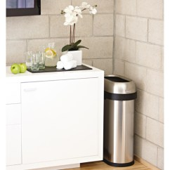 Simplehuman Kitchen Trash Can Diy Pull Out Shelves 50l Slim Steel Open