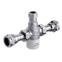 Bristan Gummers 15mm Thermostatic Mixing Valve With 22mm ...