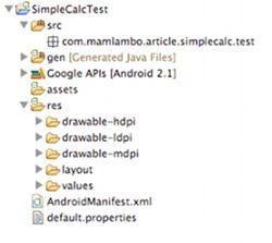 Junit Testing SimpleCalcTest Project Files