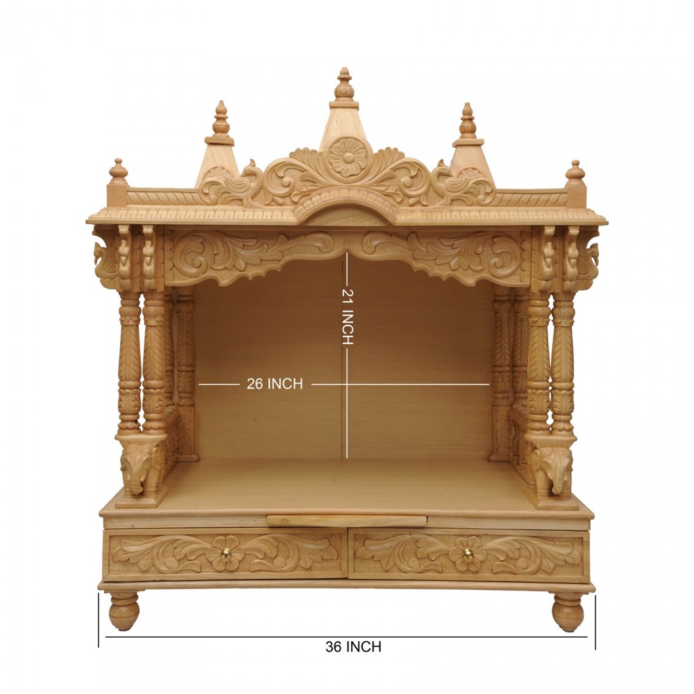 Indian Handcrafted Wooden Temple for Home  160213_0988  Sevan Wood Mandir Temples