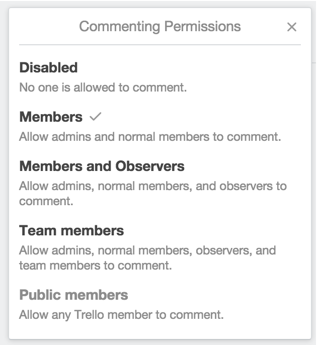 Select Who Is Allowed To Comment On Your Board