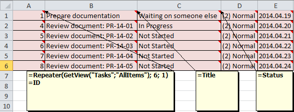 JungleDocs | Repeater section in Excel documents - Documentation ...