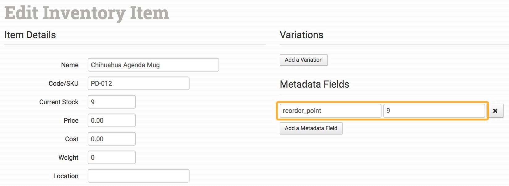 inventory helper integration order