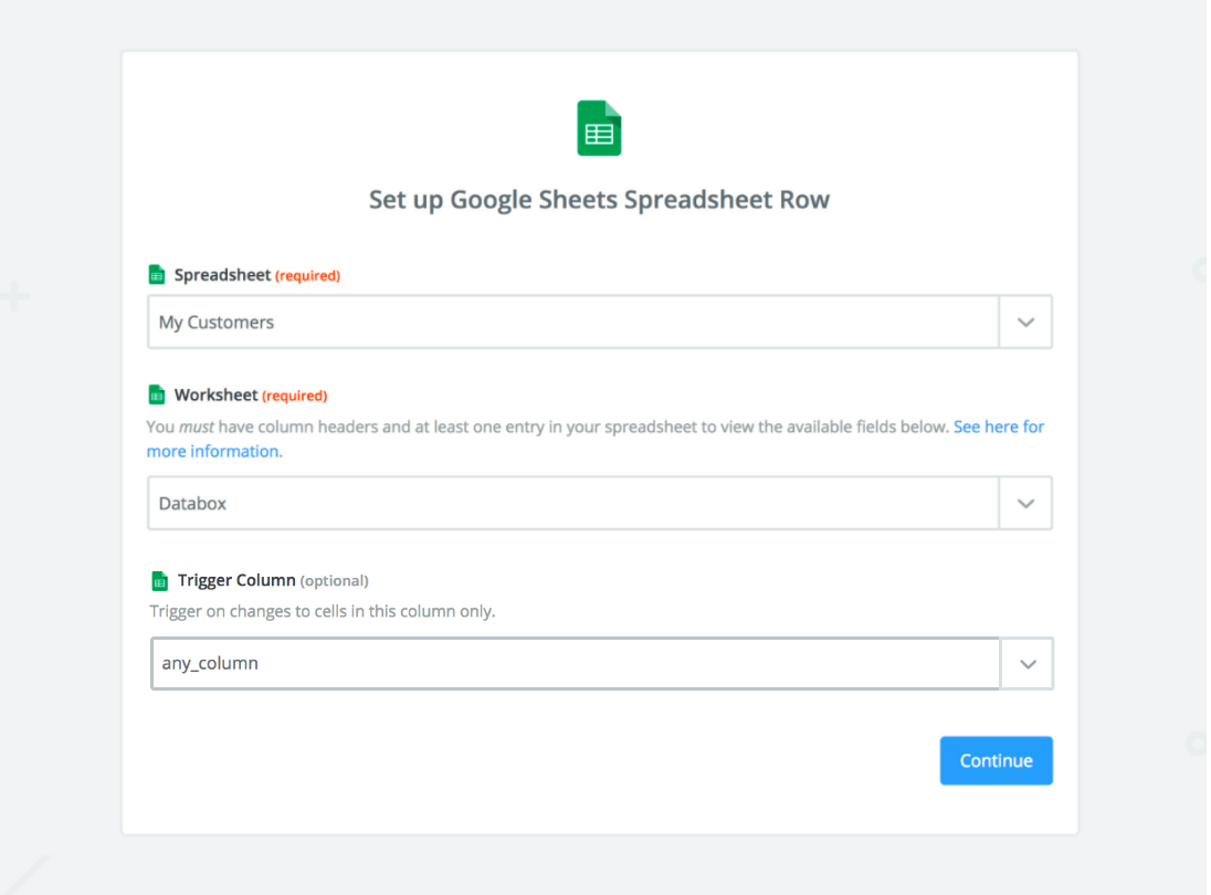 Guide: Using Google Sheets through Zapier - Databox Help Desk