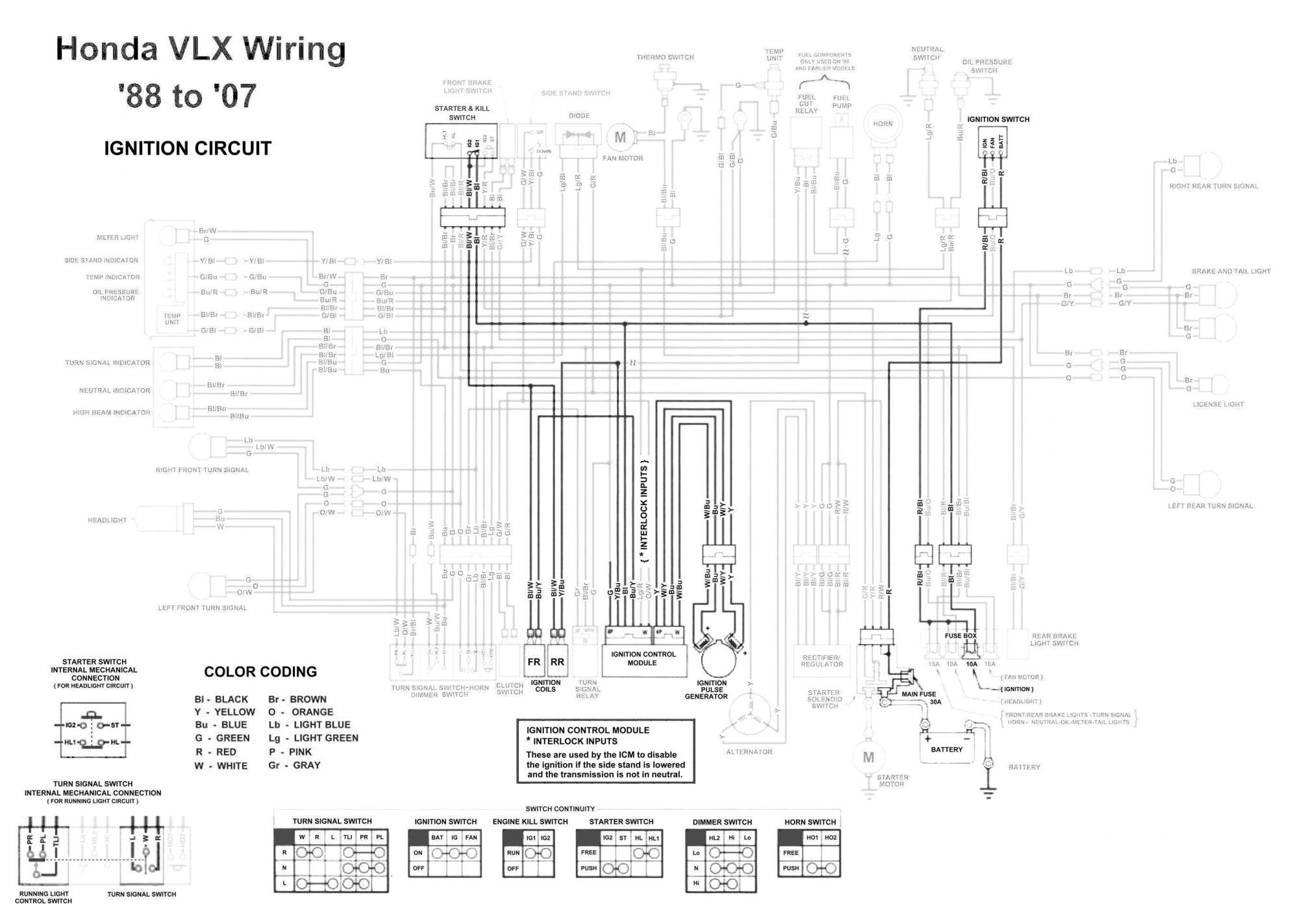 hight resolution of honda shadow vt600 vlx 600 ignition circuit diagram tj brutal 1998 honda shadow 600 wiring diagram
