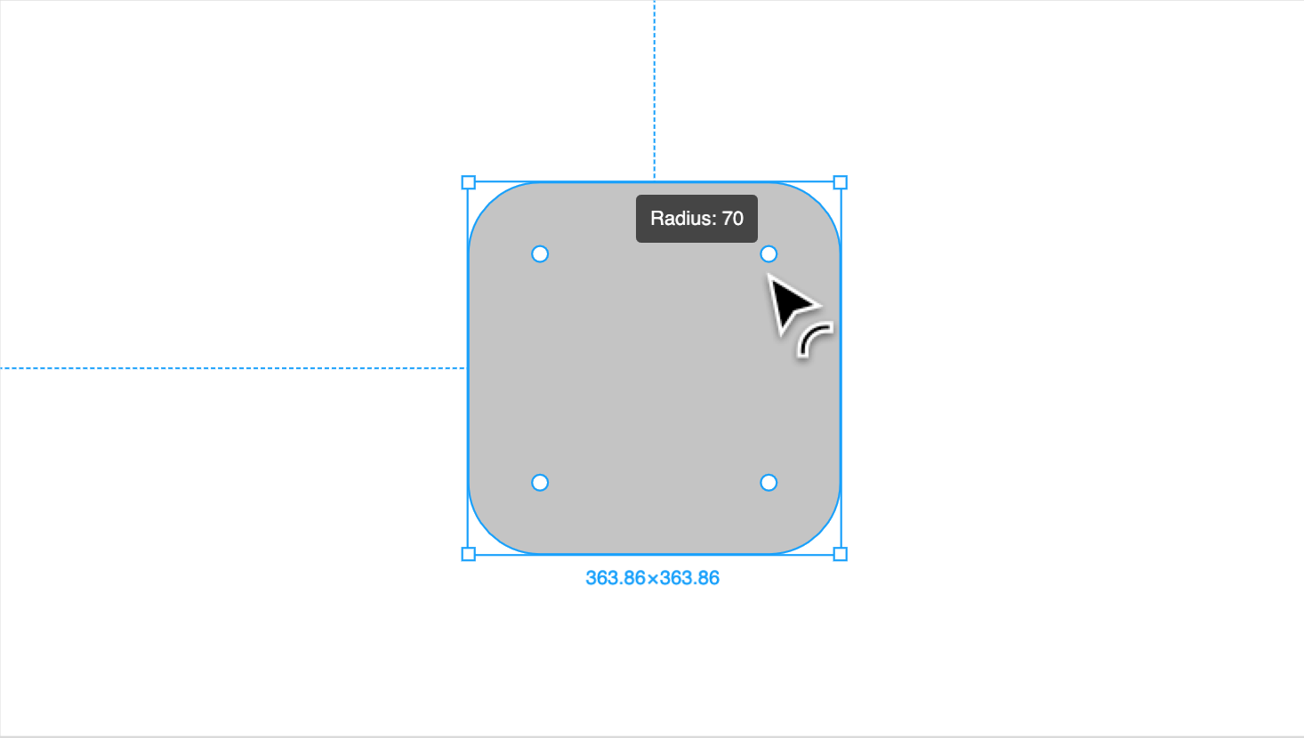 hight resolution of click and drag the handle towards the center of the object to round the corners