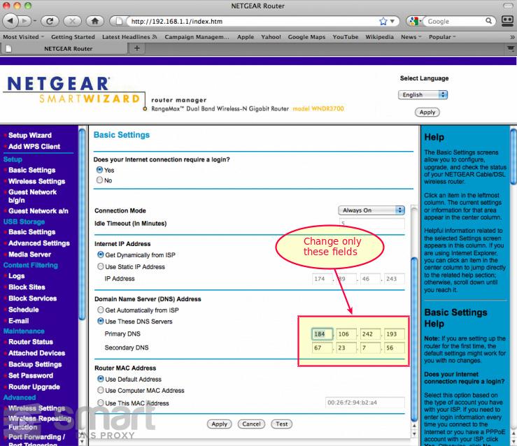 Netgear Router Setup for Smart DNS Proxy - Smart DNS Proxy Support