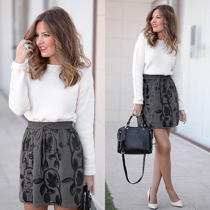 Helena Cueva - The Desire Shop Skirt. Zara Sweater. Gerique Ring. Zara Heels - Brilli   LOOKBOOK