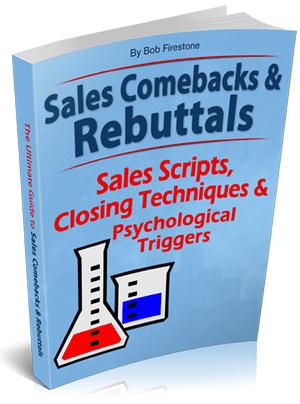 Bob Firestone Sales Rebuttals book cover.