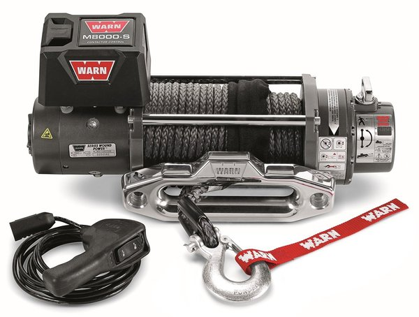 warn m8000 winch wiring diagram 1jz engine smittybilt xrc 9500 buyer s guide roundforge with synthetic rope the version is lighter safer and has a much stronger line than steel cable