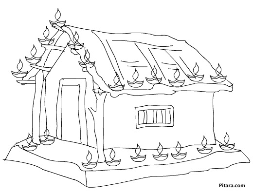 Diwali Coloring Pages for kids