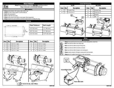 [Complete Specs] Warn M12000 12V Winch 17801 Roundforge