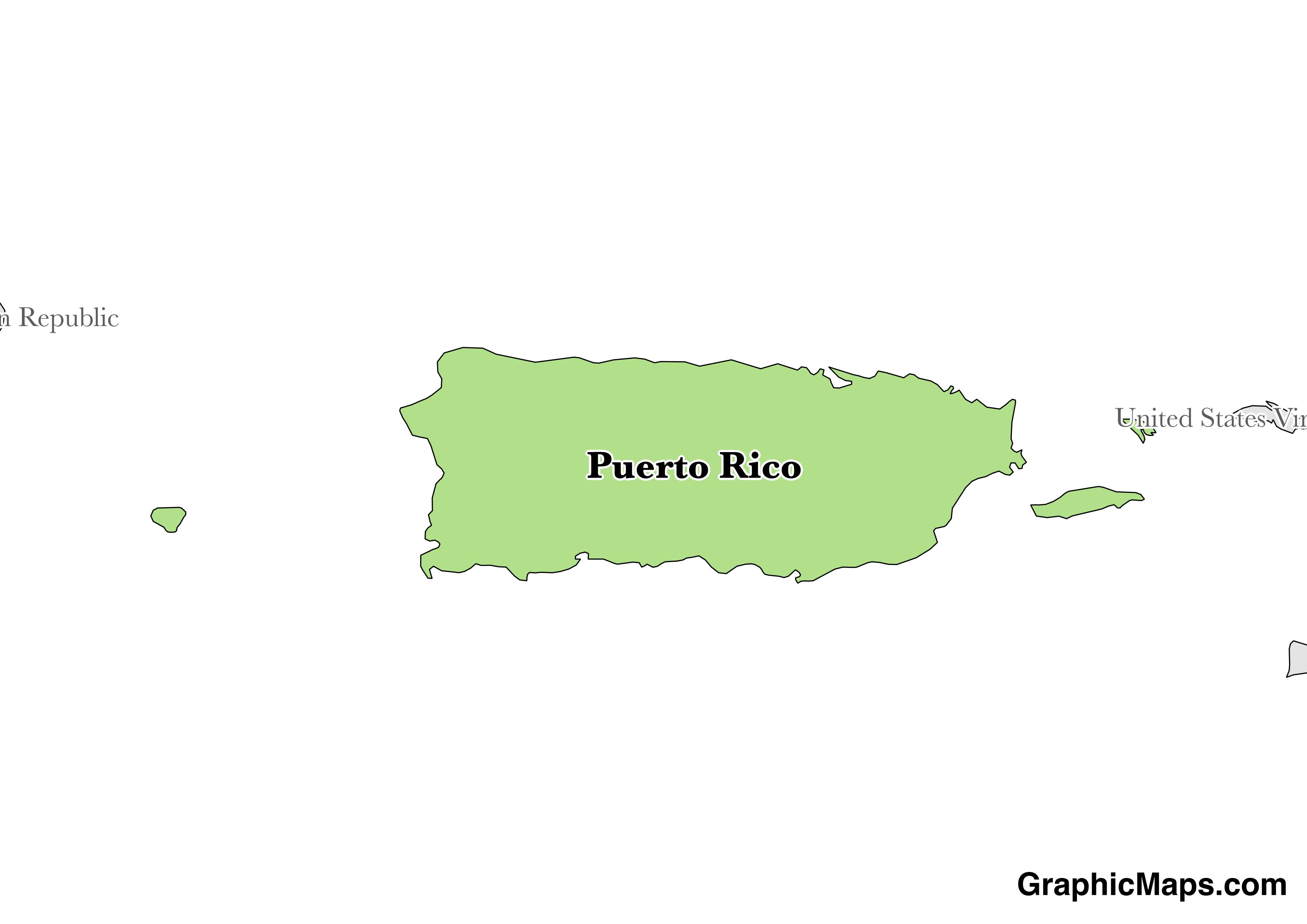 Puerto Rico Graphicmaps