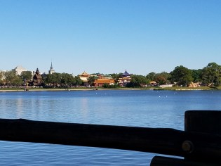 View of Epcot from the water