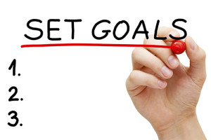 Set 3 or 4 30 Day Goals Each Month