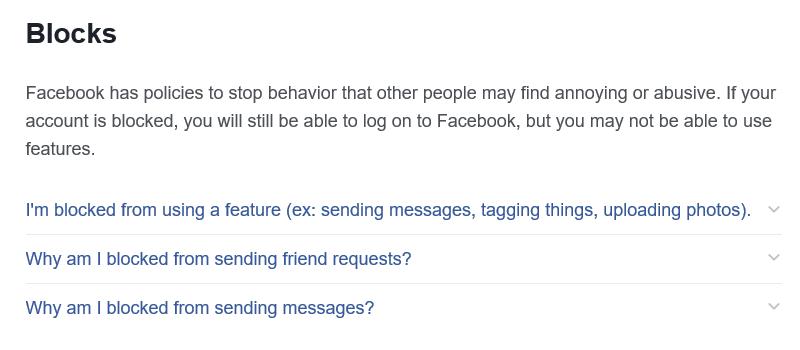 Facebook Jail Tips