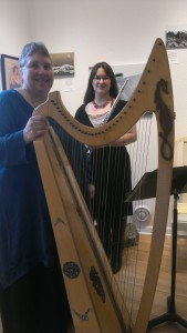 Me and my harp that I made.