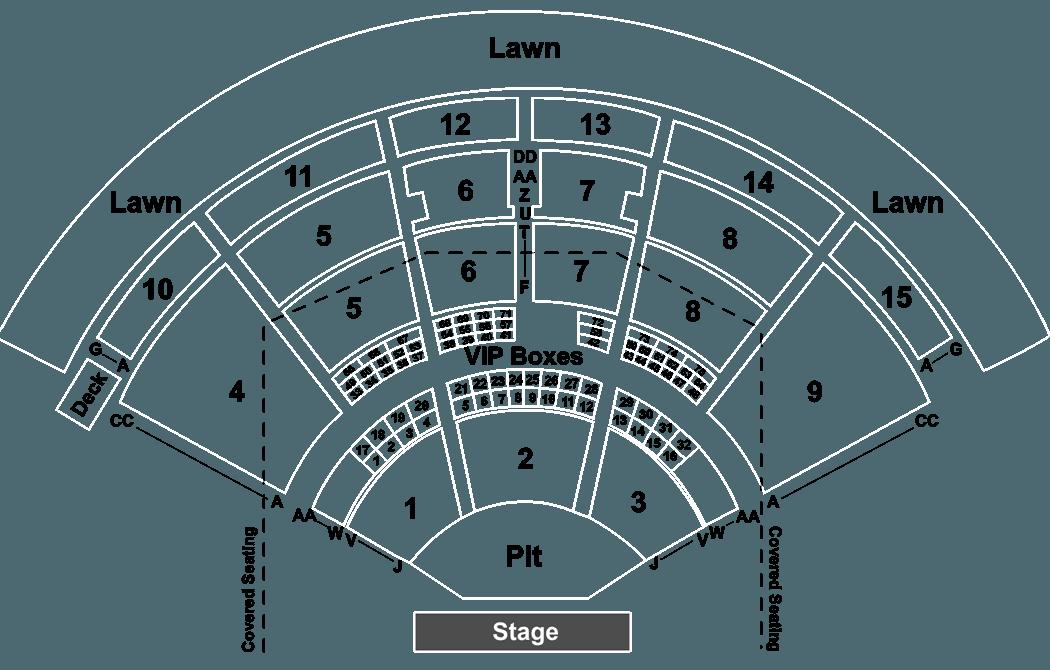 Amazing Pnc Music Pavilion Charlotte Nc Seating Map