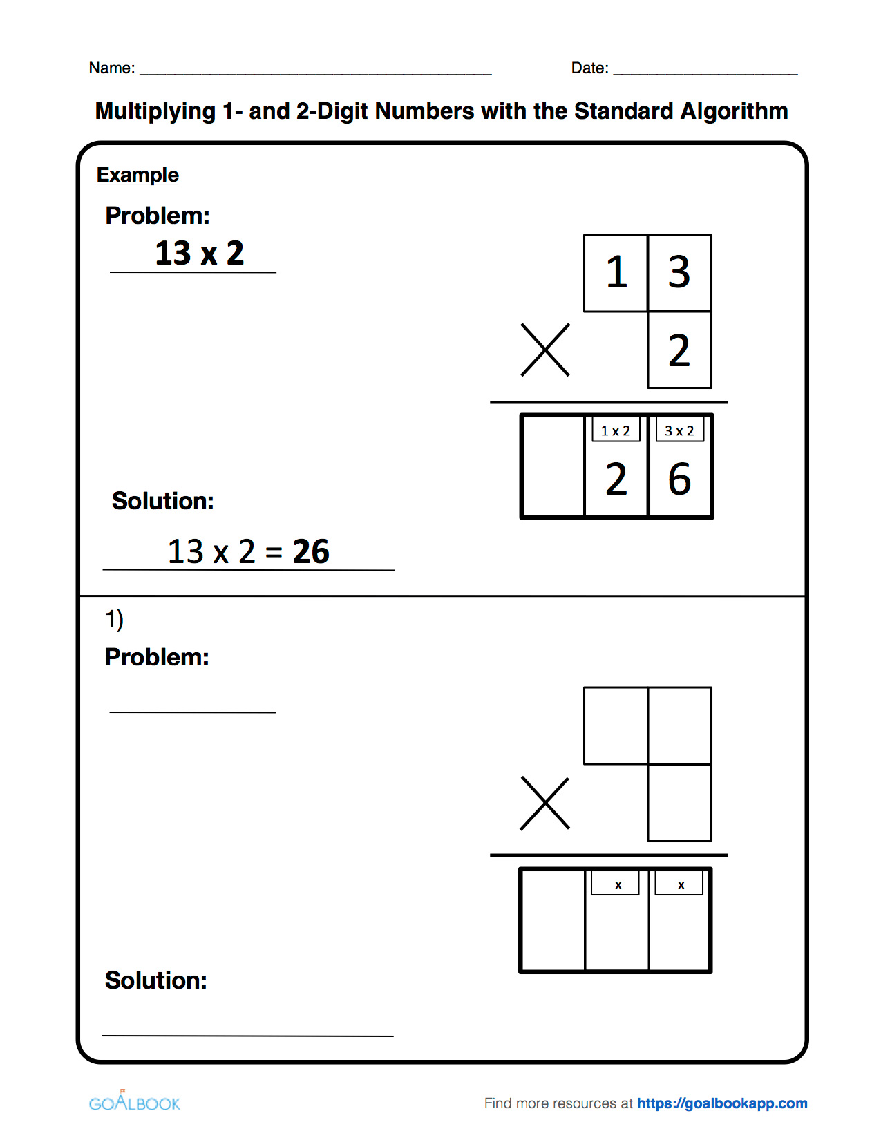 Multiply Using The Standard Algorithm