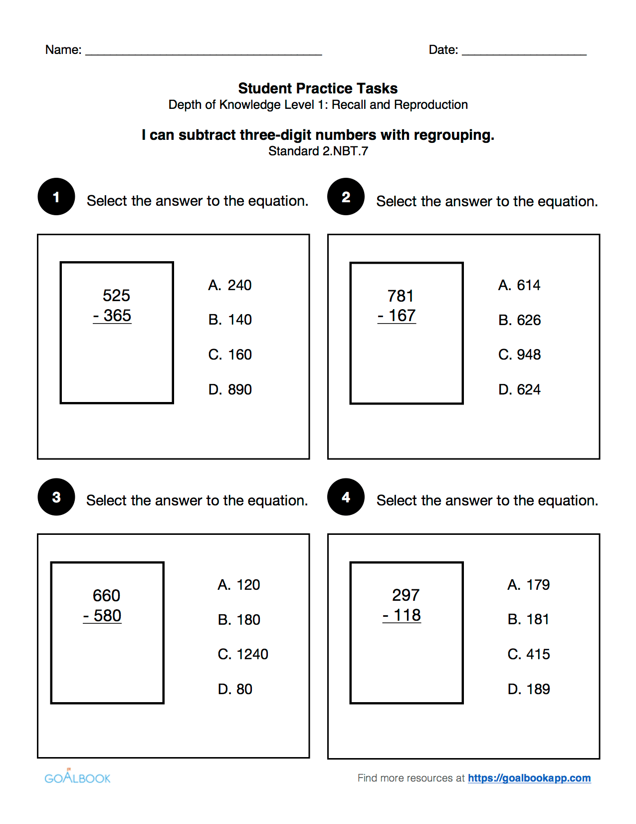 2 Nbt 7 Add And Subtract Within