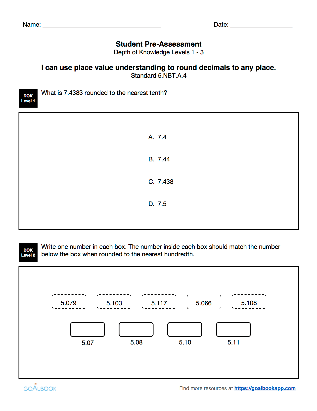 5 Nbt 4 Round Decimals
