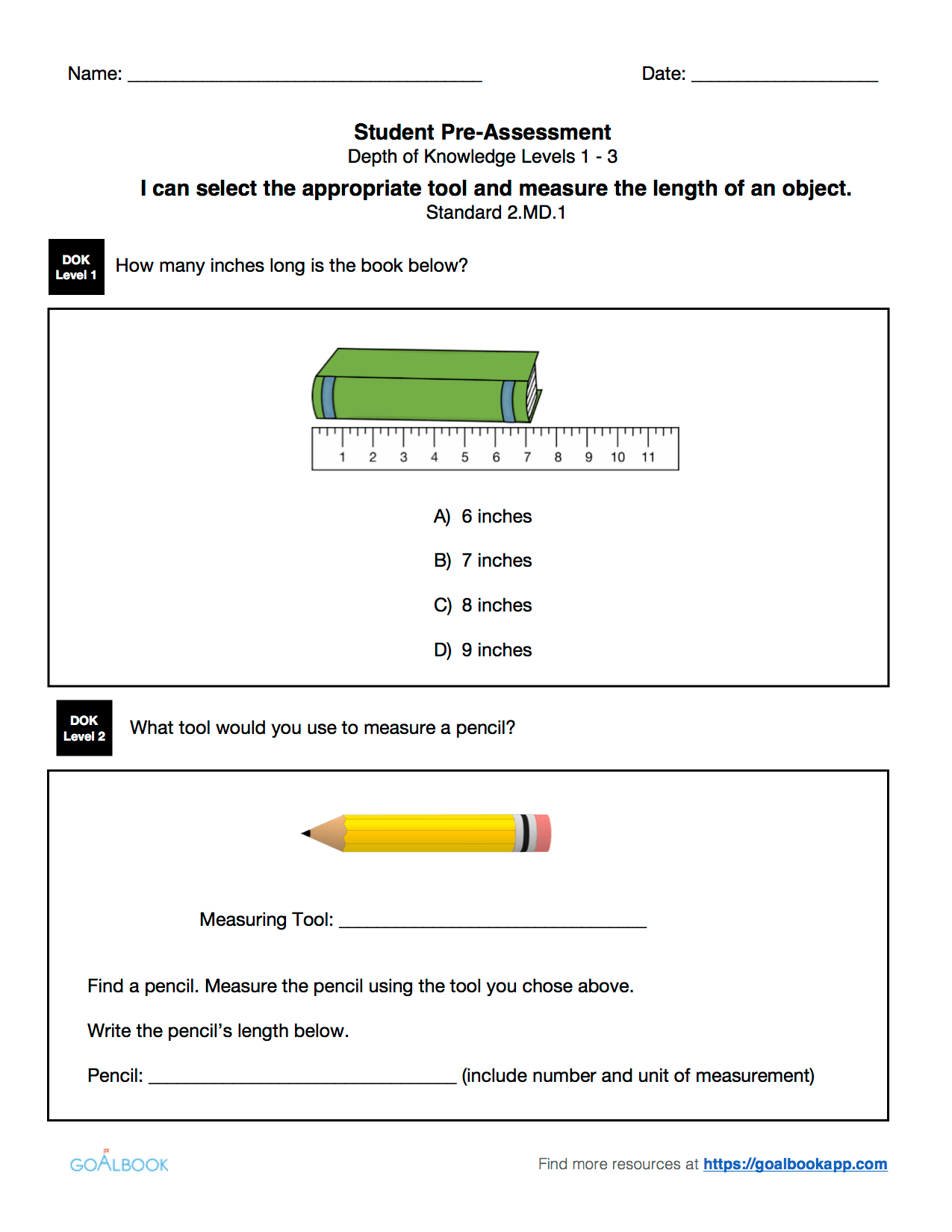 2 Md 1 Measure Length Using Tools
