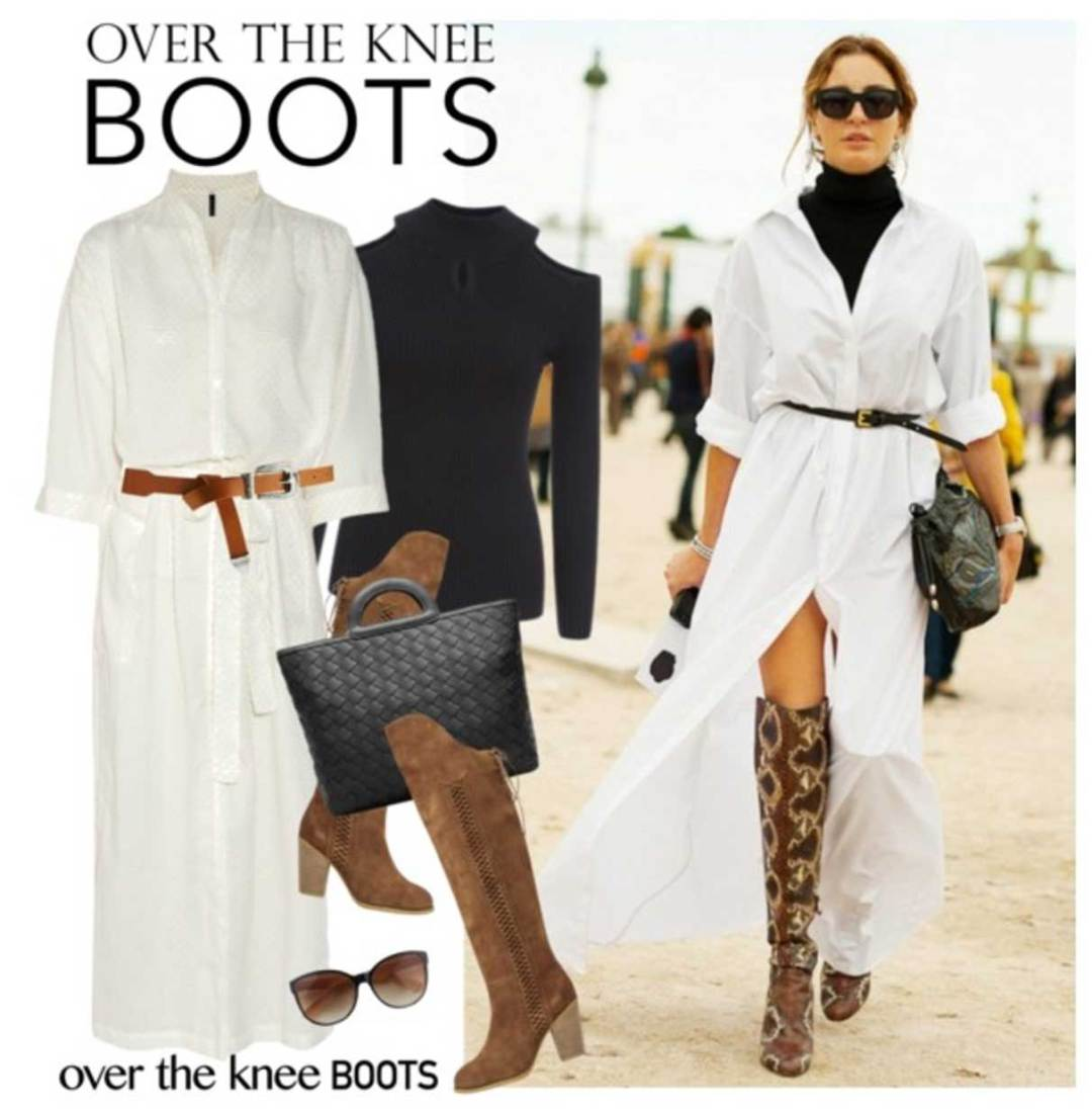 Winter Dressing Style: Brown suede over the knee boots