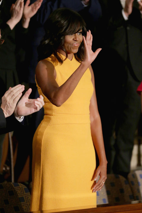 First Lady Michelle Obama - At President Obama's final State of the Union address.