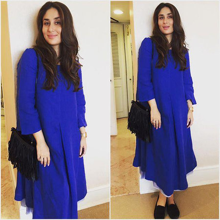 Kareena Kapoor Khan in beautiful midnight blue midi dress