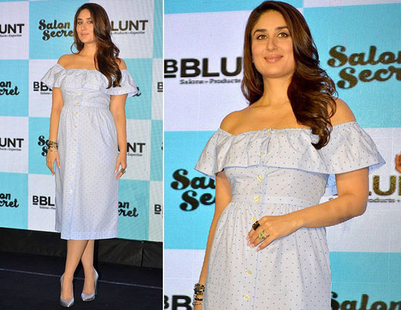 Kareena Kapoor Khan in an off-shoulder dress by H&M