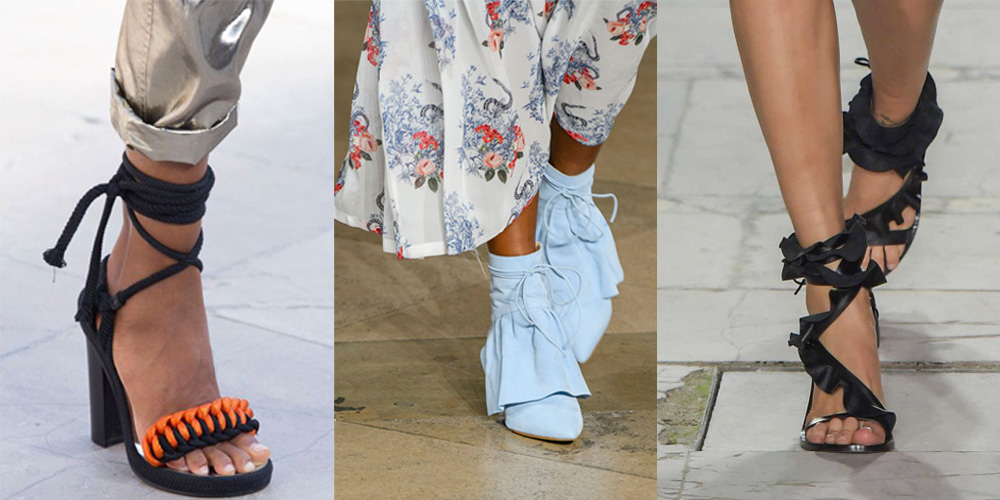 Spring/Summer Shoe Trends 2017: Ruffles, Bows, Feathers And Ribbons