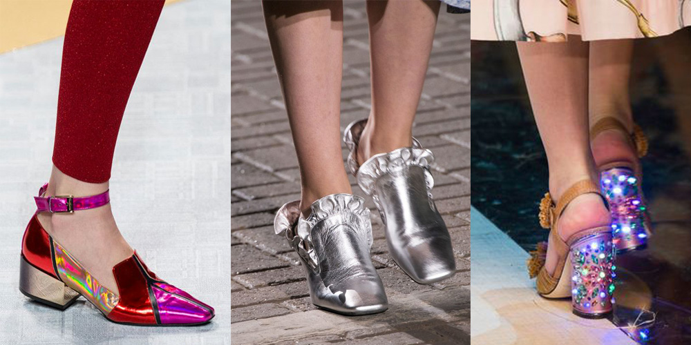 Spring/Summer Shoe Trends 2017: Shiny Shoes
