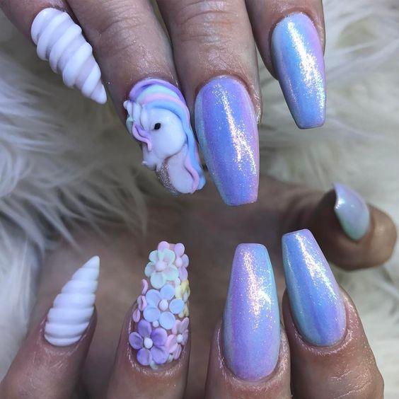Summer Nail Colors Trend-Unicorn