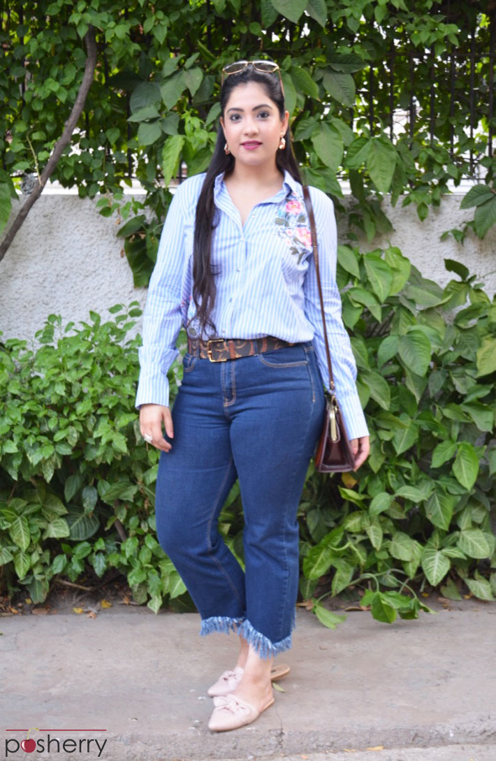What To Wear With Jeans That Have Frayed Hems [Two Looks]