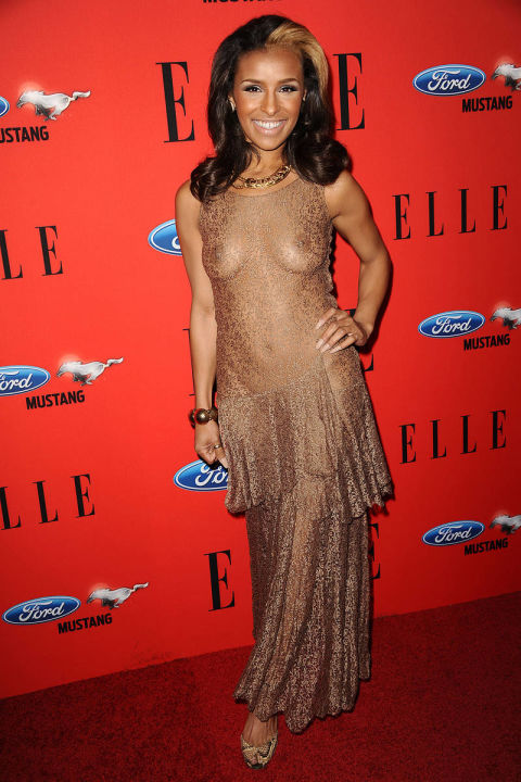 Naked Dress Trend - Melody Thornton at the Elle 2012 Music Awards