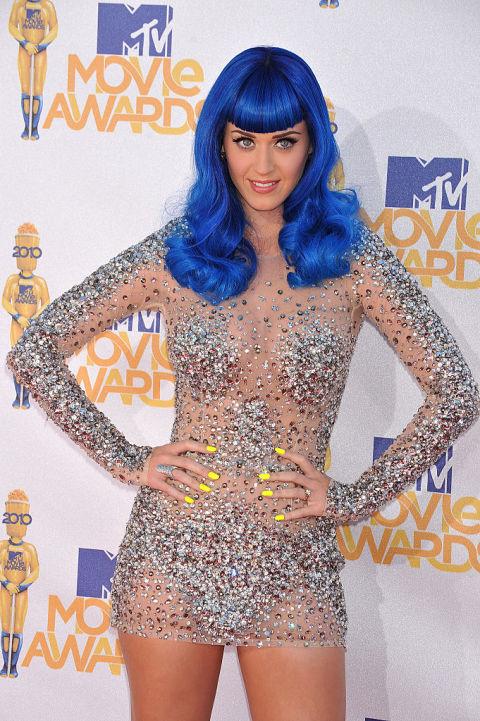 Naked Dress Trend - Katy Perry at the 2010 MTV Movie Awards