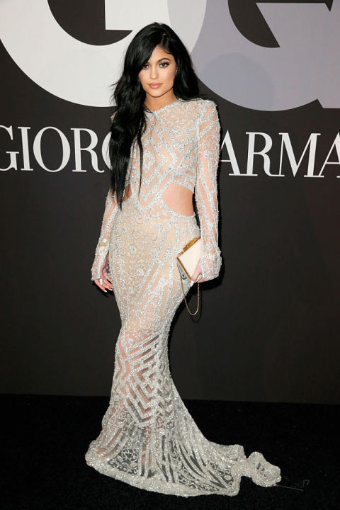 Naked Dress Trend - Kylie Jenner at the Grammys after party in 2015
