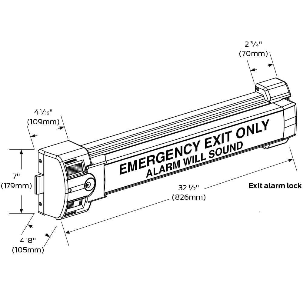 Von Duprin 2670-SP28 Guard-X Alarmed Exit Device