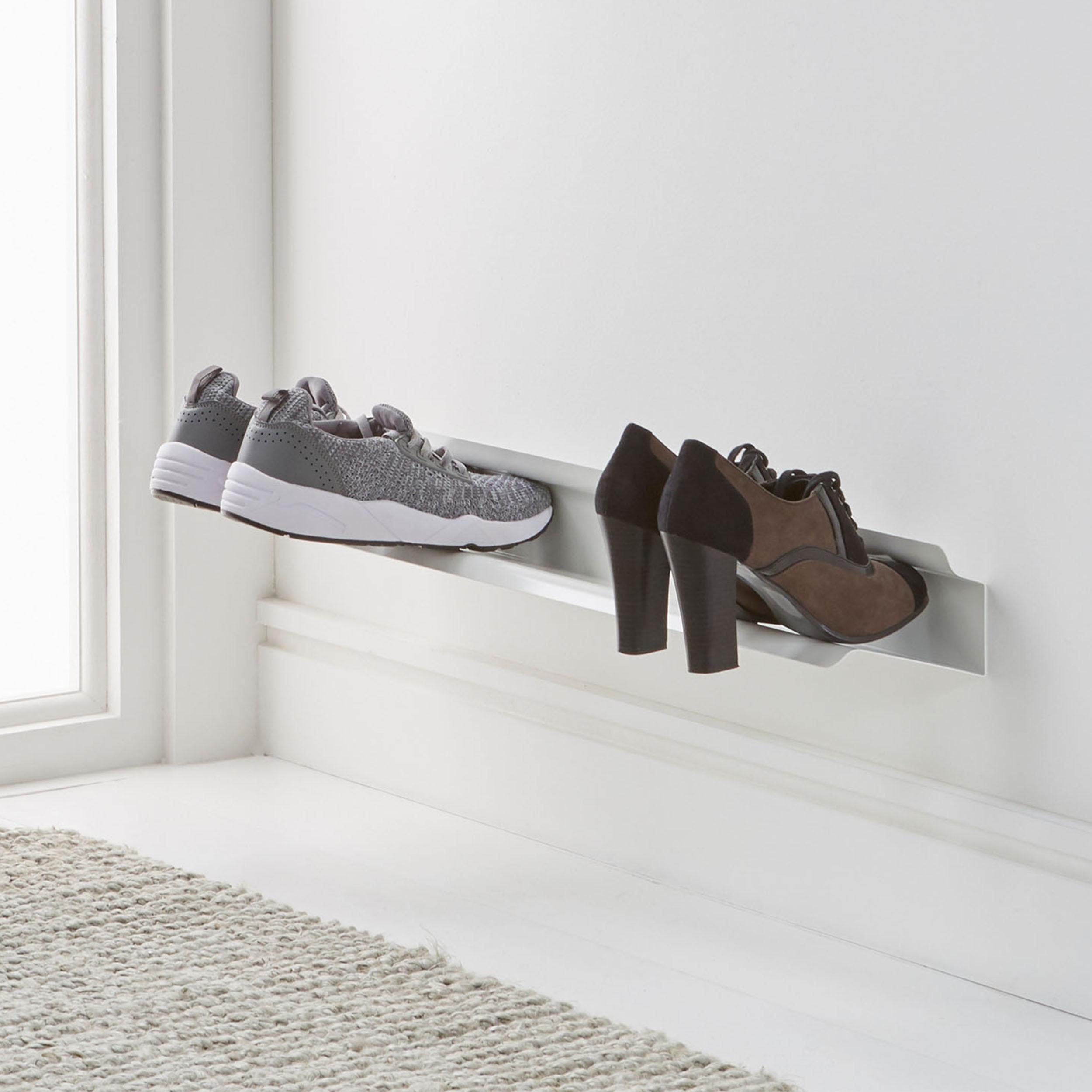 wall mounted shoe rack small