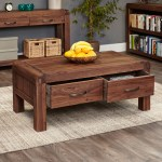 Solid Walnut Coffee Table With Storage Shiro Store
