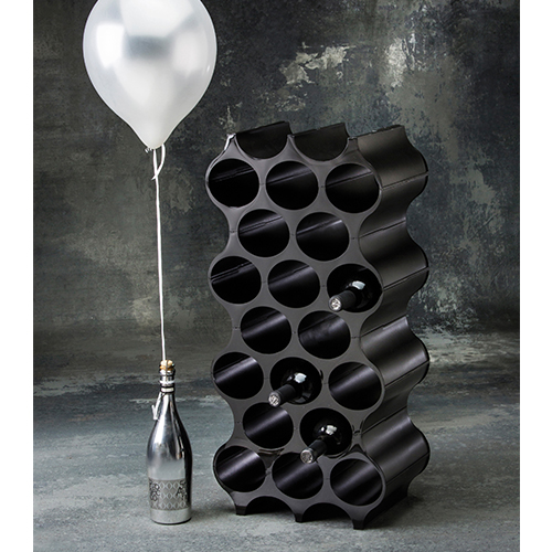 honeycomb wine bottle rack