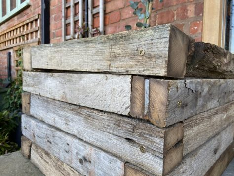 old oak beam planters
